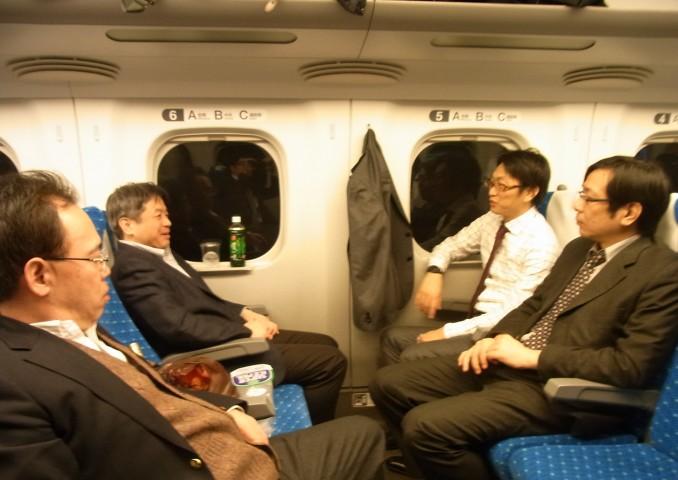 新幹線車中の風景