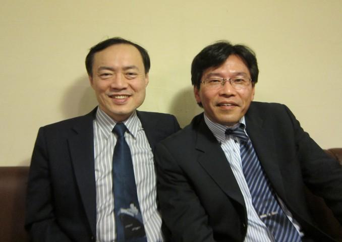 藤井先生と河野先生。