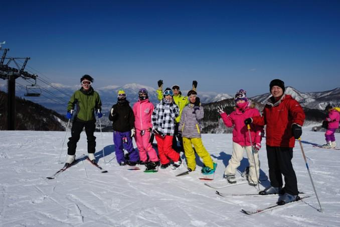 スキーも充実!病棟から看護師が5人も参加。