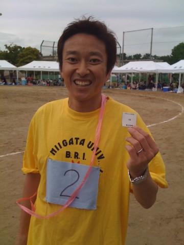 長谷川先生、壮年マラソン3連覇中。