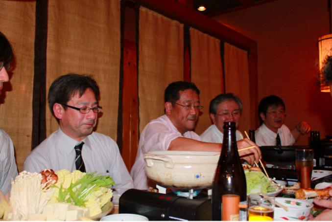 2日目 名古屋コーチンのお店で、高橋先生、柿田先生を囲んで懇親会。