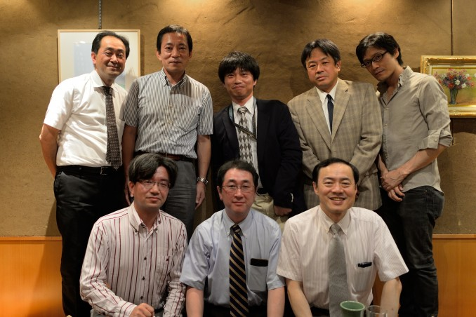 ご講演後の懇親会にて(下段中央:京都大学 准教授 髙木康志先生)