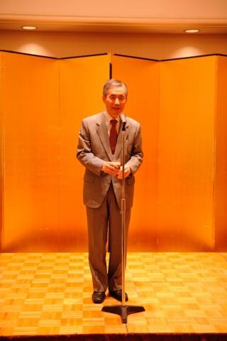 田中先生の乾杯の挨拶