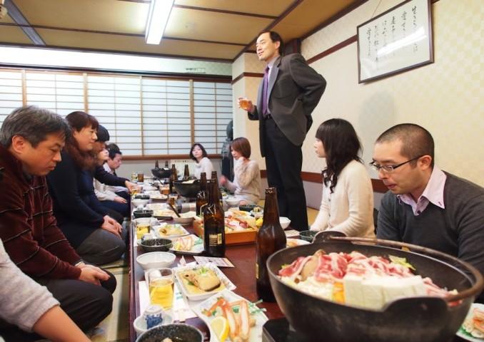 藤井先生からの乾杯のご挨拶