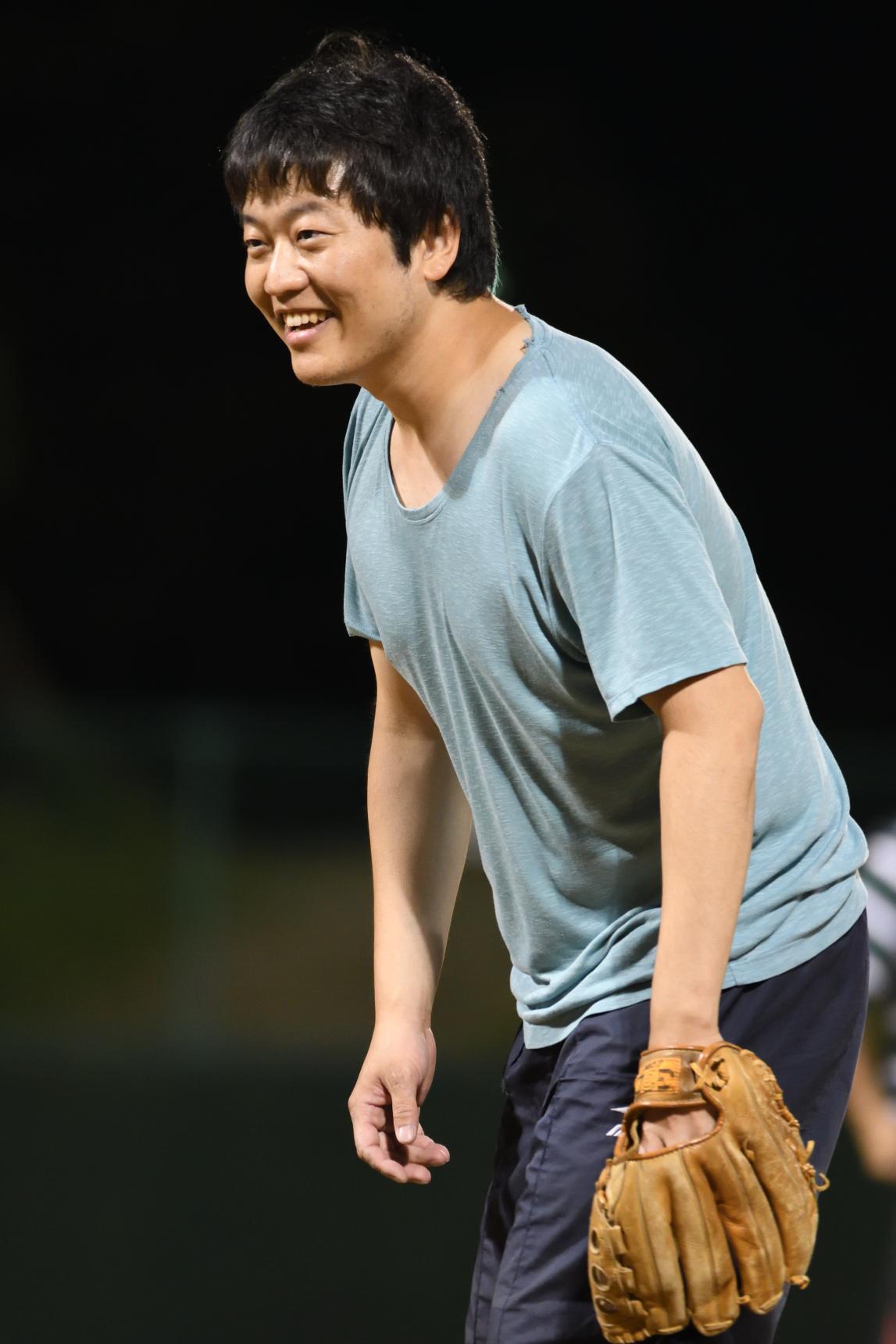 今年専門医試験を受ける吉田先生。試験のことを忘れ、満面の笑みです。