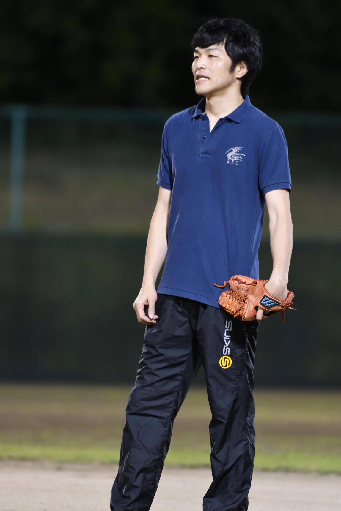 野球経験者の大倉先生。来年は期待してます。