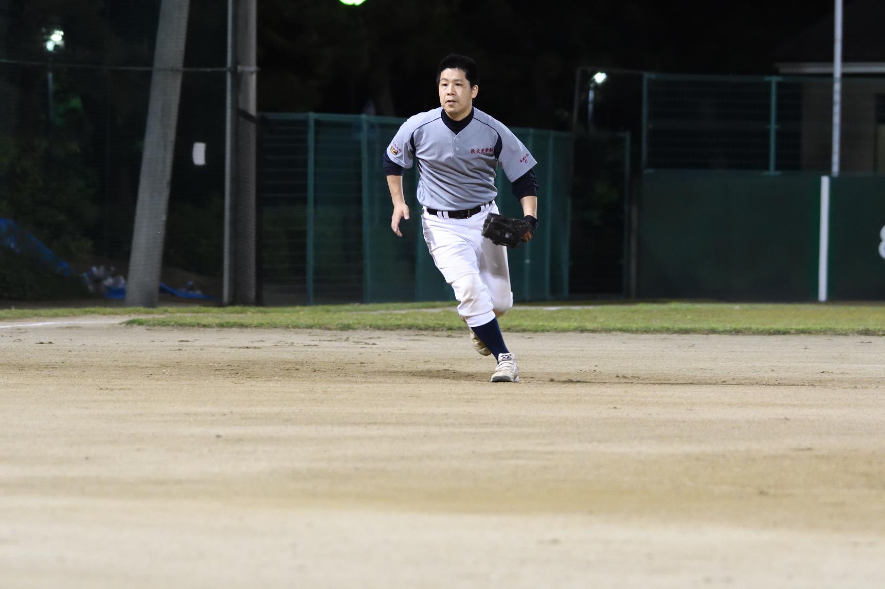 野球担当の安藤先生。気合が違います。