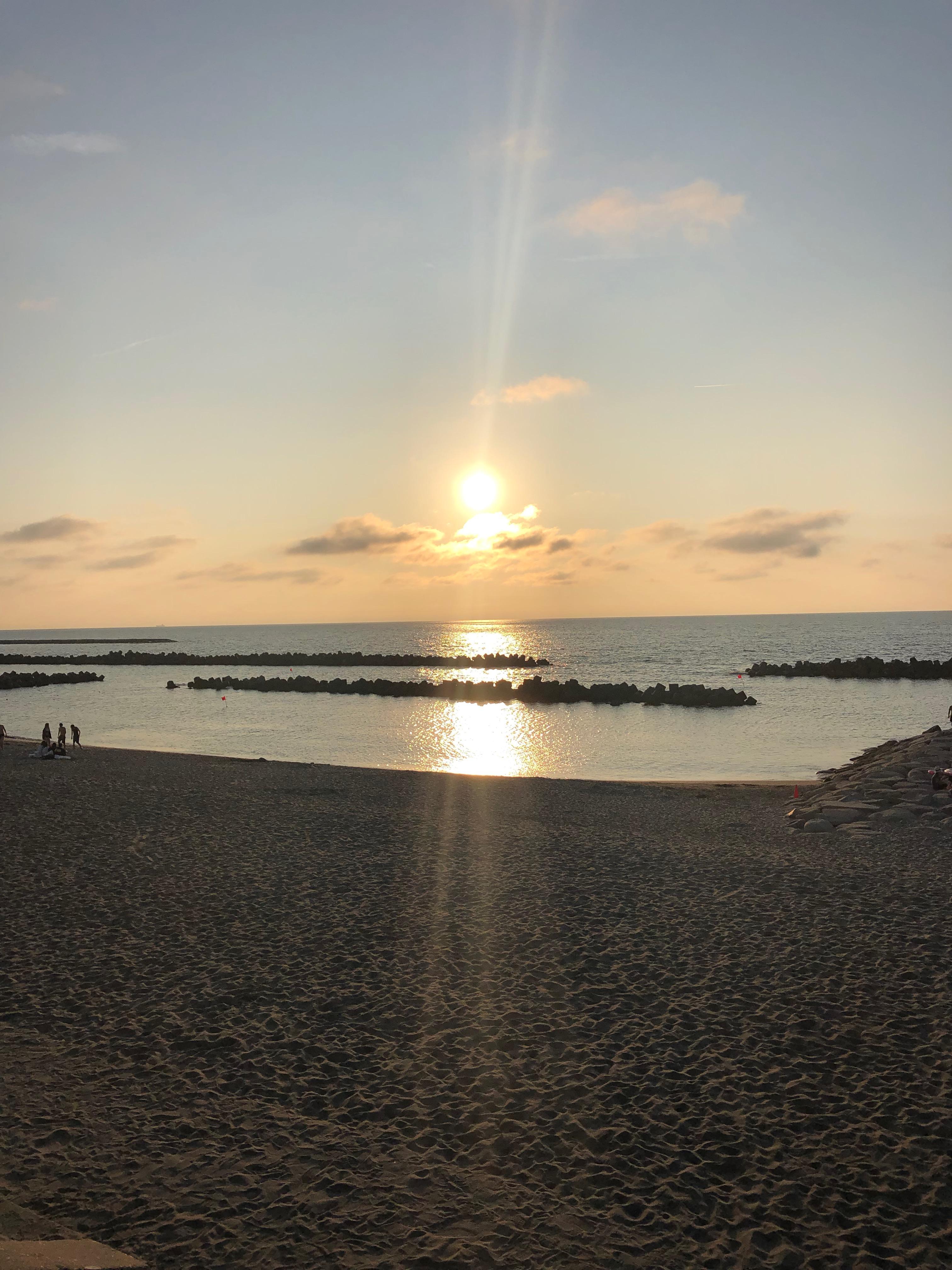 日本海に沈む夕日が綺麗でした